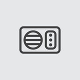 Απεικόνιση εικονιδίων μικροκυμάτων Στοκ Εικόνα