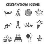 απεικόνιση εικονιδίων στοιχείων σχεδίου εορτασμού Στοκ Εικόνες
