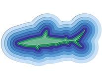 Απεικόνιση ενός βαλμένου σε στρώσεις ψαριού στη θάλασσα Στοκ εικόνες με δικαίωμα ελεύθερης χρήσης