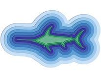 Απεικόνιση ενός βαλμένου σε στρώσεις ψαριού στον ωκεανό Στοκ φωτογραφία με δικαίωμα ελεύθερης χρήσης