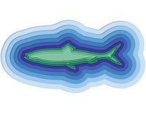 Απεικόνιση ενός βαλμένου σε στρώσεις ψαριού στον ωκεανό Στοκ φωτογραφίες με δικαίωμα ελεύθερης χρήσης