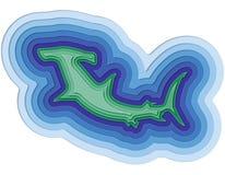 Απεικόνιση ενός βαλμένου σε στρώσεις ψαριού στον ωκεανό Στοκ Εικόνα