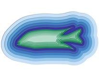 Απεικόνιση ενός βαλμένου σε στρώσεις ψαριού στον ωκεανό Στοκ εικόνα με δικαίωμα ελεύθερης χρήσης