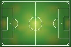 Απεικόνιση ενός γηπέδου ποδοσφαίρου Στοκ εικόνα με δικαίωμα ελεύθερης χρήσης