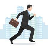 Απεικόνιση ενός επιχειρηματία που τρέχει με το χαρτοφύλακά του Στοκ φωτογραφία με δικαίωμα ελεύθερης χρήσης