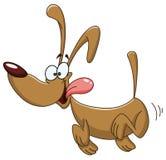Τρέχοντας σκυλί ελεύθερη απεικόνιση δικαιώματος