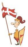 Απεικόνιση ενός ιππότη κινούμενων σχεδίων Στοκ Εικόνες
