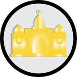 Απεικόνιση ενός ισλαμικού μουσουλμανικού τεμένους Στοκ Εικόνα
