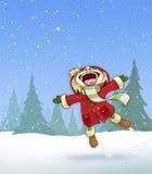 Κορίτσι στο χιόνι Στοκ Φωτογραφίες