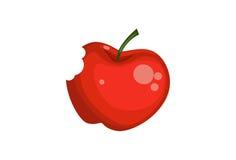 Απεικόνιση ενός μήλου με ένα δάγκωμα στοκ φωτογραφία