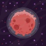 Απεικόνιση ενός πλανήτη κινούμενων σχεδίων Στοκ Εικόνες