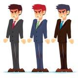 Απεικόνιση ενός υ επιχειρηματία Συναισθηματικός επιχειρηματίας στην οργή Αίσθημα του θυμού Emoticon, emoji Ύφος κινούμενων σχεδίω απεικόνιση αποθεμάτων