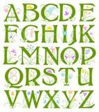 Αλφάβητο λουλουδιών απεικόνιση αποθεμάτων