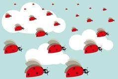 Απεικόνιση ενός ladybug Στοκ φωτογραφίες με δικαίωμα ελεύθερης χρήσης