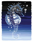 Απεικόνιση ενός seahorse Ελεύθερη απεικόνιση δικαιώματος