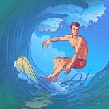 απεικόνιση ενός surfer Στοκ Εικόνες