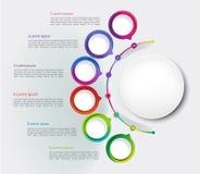Απεικόνιση επιχειρησιακών στοιχείων Διάγραμμα διαδικασίας Αφηρημένα στοιχεία της γραφικής παράστασης, διάγραμμα με τα βήματα, τις στοκ εικόνες
