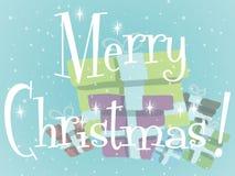 Απεικόνιση ευχετήριων καρτών Χαρούμενα Χριστούγεννας διανυσματική απεικόνιση