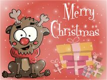 Απεικόνιση ευχετήριων καρτών Χαρούμενα Χριστούγεννας Στοκ φωτογραφία με δικαίωμα ελεύθερης χρήσης
