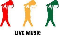 Απεικόνιση ζωντανής μουσικής Στοκ εικόνα με δικαίωμα ελεύθερης χρήσης