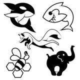 Απεικόνιση ζώων σκιαγραφιών Στοκ εικόνες με δικαίωμα ελεύθερης χρήσης
