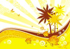 απεικόνιση ηλιόλουστη Στοκ εικόνες με δικαίωμα ελεύθερης χρήσης