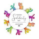 Απεικόνιση ημέρας αλληλεγγύης με τους ανθρώπους ποικιλομορφίας διανυσματική απεικόνιση