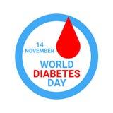 Απεικόνιση ημέρας παγκόσμιου διαβήτη διανυσματική απεικόνιση
