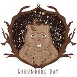 Απεικόνιση ημέρας Groundhog Στοκ φωτογραφία με δικαίωμα ελεύθερης χρήσης
