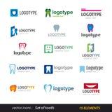 Σύνολο λογότυπων δοντιών Στοκ φωτογραφία με δικαίωμα ελεύθερης χρήσης