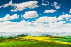 απεικόνιση Ιταλία χρωματισμένη τοπίο Τοσκάνη χεριών Στοκ φωτογραφία με δικαίωμα ελεύθερης χρήσης