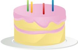 απεικόνιση κέικ γενεθλίων Στοκ Εικόνες