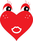 απεικόνιση καρδιών Στοκ Εικόνες