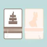 Απεικόνιση καρτών πρόσκλησης Στοκ Φωτογραφίες