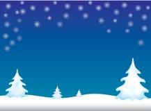 Απεικόνιση καρτών Χριστουγέννων με το χριστουγεννιάτικο δέντρο στο μπλε υπόβαθρο Στοκ φωτογραφία με δικαίωμα ελεύθερης χρήσης