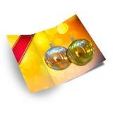 Απεικόνιση καρτών Χριστουγέννων Στοκ Εικόνα