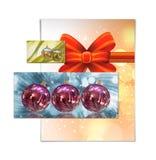 Απεικόνιση καρτών Χριστουγέννων Στοκ εικόνες με δικαίωμα ελεύθερης χρήσης