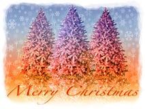 Απεικόνιση καρτών Χριστουγέννων Στοκ Φωτογραφία