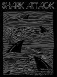 Απεικόνιση καρχαριών, τυπογραφία, γραφική παράσταση μπλουζών, διανύσματα απεικόνιση αποθεμάτων