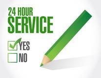 απεικόνιση καταλόγων ελέγχου υπηρεσιών 24 ώρας Στοκ εικόνα με δικαίωμα ελεύθερης χρήσης