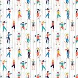 Απεικόνιση κεντρικών άνευ ραφής σχεδίων ικανότητας Workout διανυσματική Υπόβαθρο αθλητικών λεσχών ελεύθερη απεικόνιση δικαιώματος