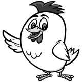 Απεικόνιση κινούμενων σχεδίων κοτόπουλου Στοκ Εικόνες