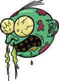 Απεικόνιση κινούμενων σχεδίων επικεφαλής να κρυώσει zombie Στοκ Φωτογραφίες