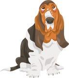 Απεικόνιση κινούμενων σχεδίων σκυλιών κυνηγόσκυλων μπασέ Στοκ φωτογραφία με δικαίωμα ελεύθερης χρήσης