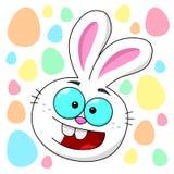 Bunny Πάσχας κεφάλι με τα αυγά Πάσχας διανυσματική απεικόνιση