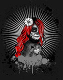 Απεικόνιση κοριτσιών Goth Στοκ εικόνα με δικαίωμα ελεύθερης χρήσης