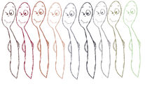 Απεικόνιση κουταλιών κινούμενων σχεδίων Στοκ Φωτογραφίες