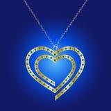 Απεικόνιση κρεμαστών κοσμημάτων διαμαντιών Στοκ φωτογραφίες με δικαίωμα ελεύθερης χρήσης