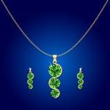 Απεικόνιση κρεμαστών κοσμημάτων διαμαντιών Στοκ εικόνα με δικαίωμα ελεύθερης χρήσης