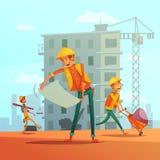 Απεικόνιση κτηρίου και Οικοδομικής Βιομηχανίας απεικόνιση αποθεμάτων